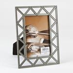 "Burnes of Boston 4"" x 6"" gray was metal scaffold photo frame - style 553246"
