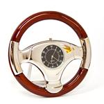 Sanis Luxury Steering Wheel Silver Desk Clock 1101-70