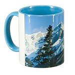 Ceramic mug, 11 oz. Color handle