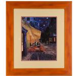 "framed artwork ""Cafe Terrace at Night"" by Vincent Van Gogh"