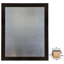 Framed Galvanized Steel Magnet Board In A Black Wood Frame