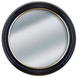 Round Black And Gold Framed Wall Mirror Frame It Waban