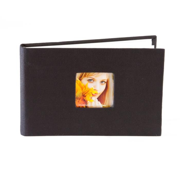 "Nielsen Brag Book 4""x6"" 24-page photo album - black"