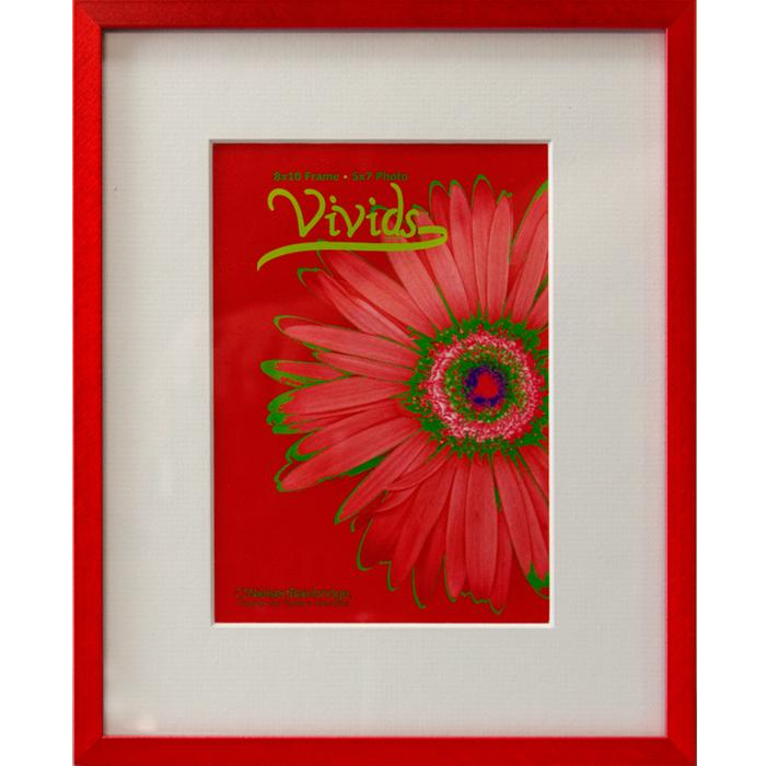 Nielsen 11x14 Red Metal Ready Made Frame With 8x10 Mat Frame It