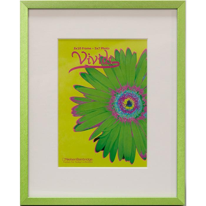 Nielsen 11x14 Green Metal Ready Made Frame With 8x10 Mat