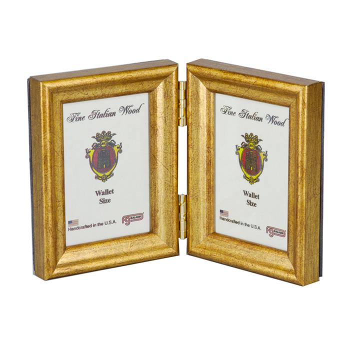 Fg Galassi Gold 25x35 Hinged Double Wood Ready Made Frame Style