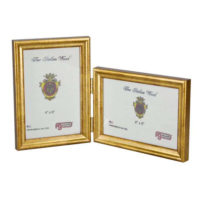 F.G. Galassi Gold 4x6 double hinged ready made frame - style ...