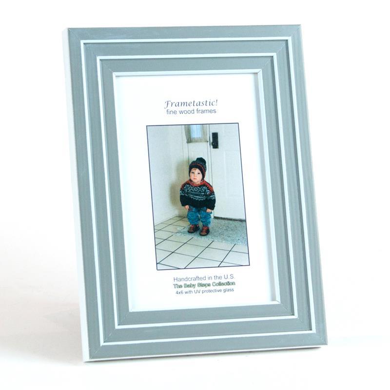 Frame It Waban Gallery Frametastic 8x10 Baby Steps Grey Photo