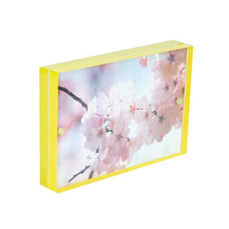Canetti 2x3 Yellow Acrylic Magnet Ready Made Frame - Style LC302Y | Frame It Waban Gallery