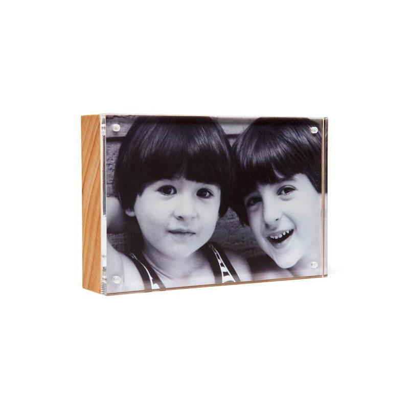 Canetti 2.5 x 3.5 acrylic photo frame with natural back - LC122N