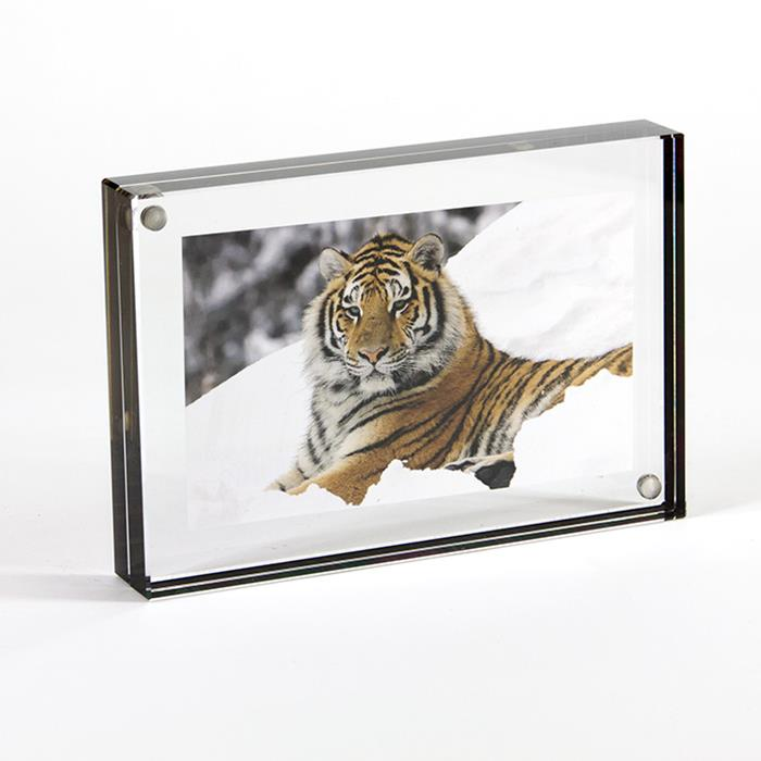 Canetti LC304K Graphite edge 4x6 clear acrylic magnetic frame ...