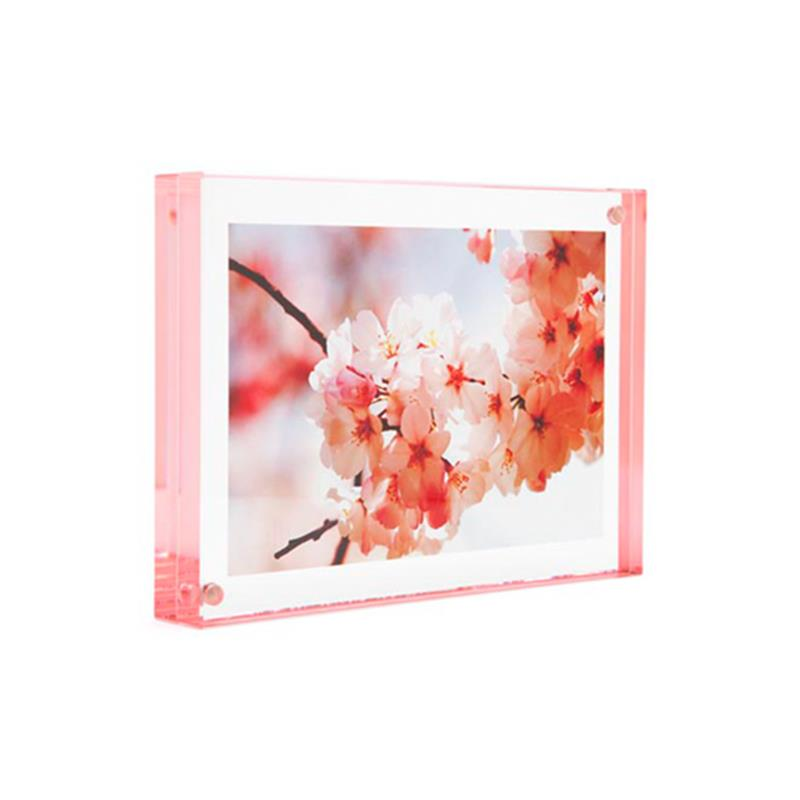 Canetti 2.5 x 3.5 acrylic photo frame with rose edge - LC502R