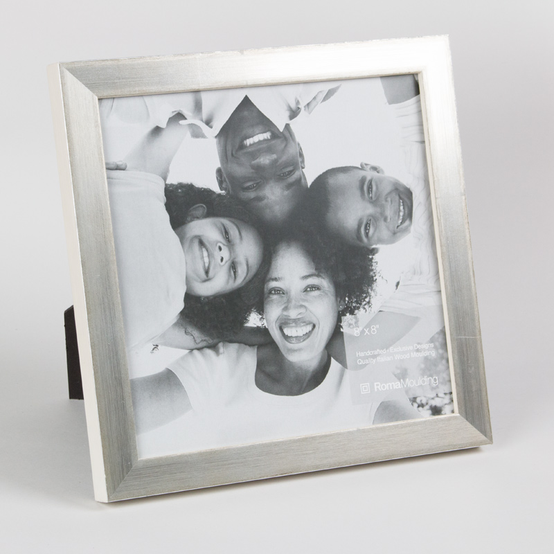 Frame It / Waban Gallery - Roma 8x8 Vintage Silver ready made frame ...
