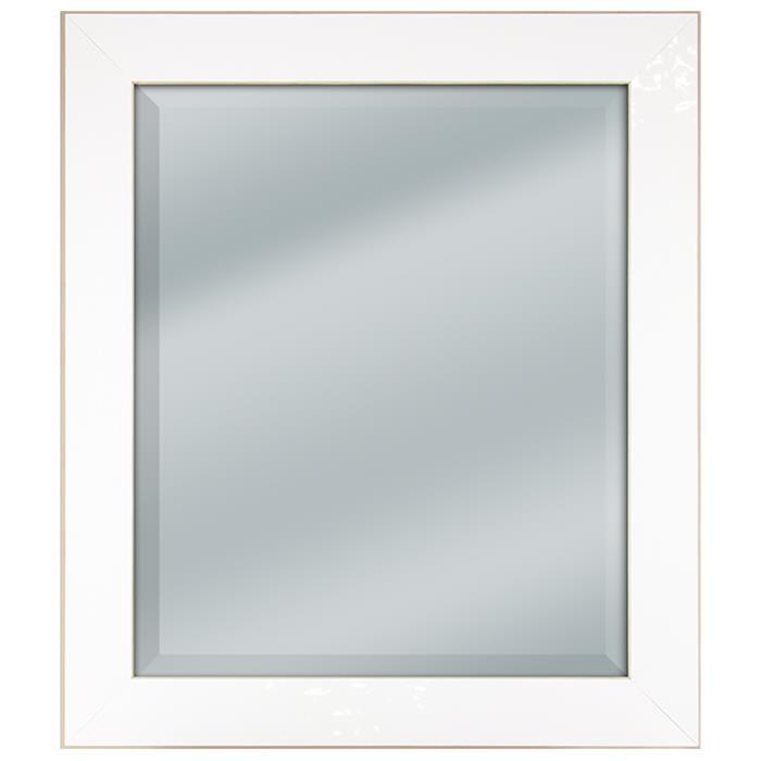 Roma Ambik style 818048 Shimmering White Beveled Mirror size 25 1/2 ...