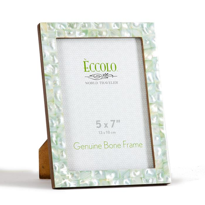 eccolo style hf319 4x6 mother of pearl green photo frame