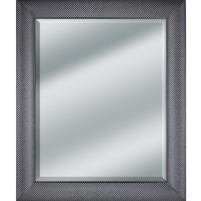 Framed Beveled Mirror In A 3 8 Wide Wood Deck Plate Steel Looking Frame Size 30x36