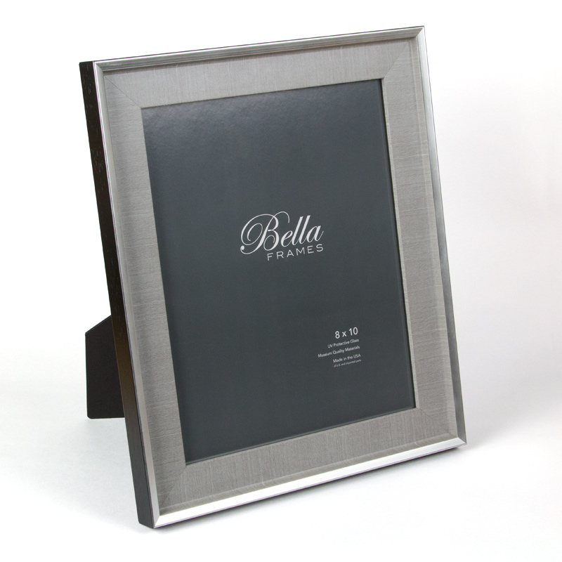 Bella Anchor Chambray silver and black 8x10 ready made frame - style F8734991