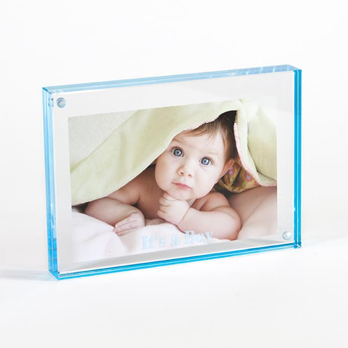 Canetti 5x7 Its A Boy Aqua Acrylic Magnet Ready Made Frame