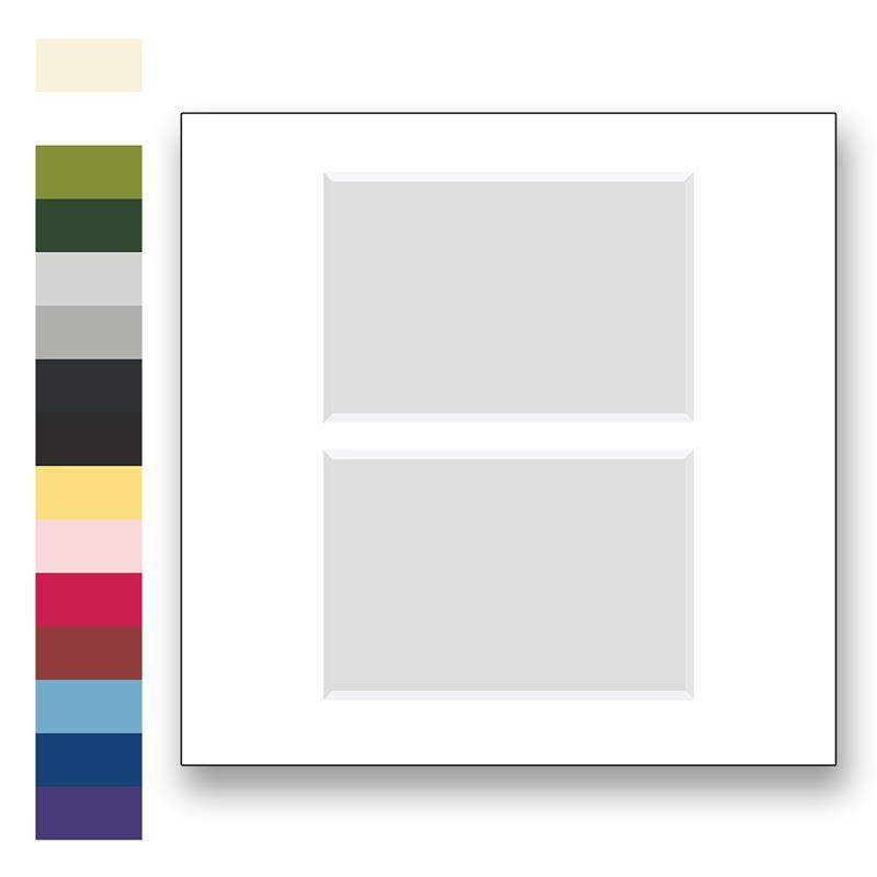 Archival Matting For 12x12 Picture Frames With 2 Windows To Fit