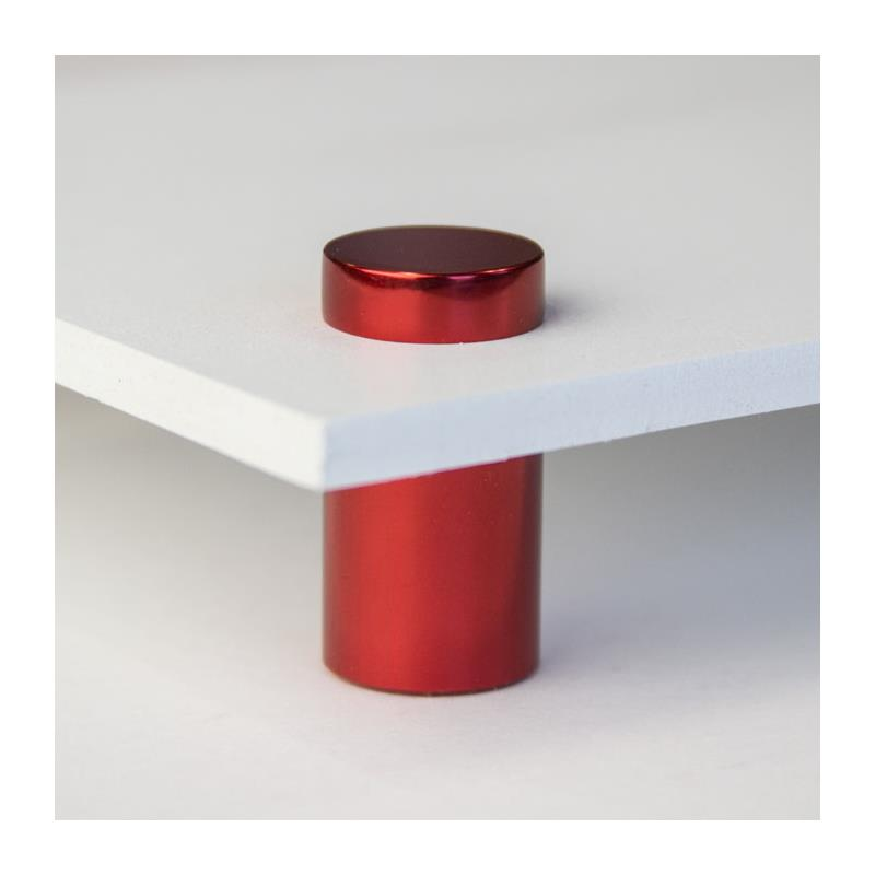 "3/4"" wide x 1"" tall red aluminum wall standoff 