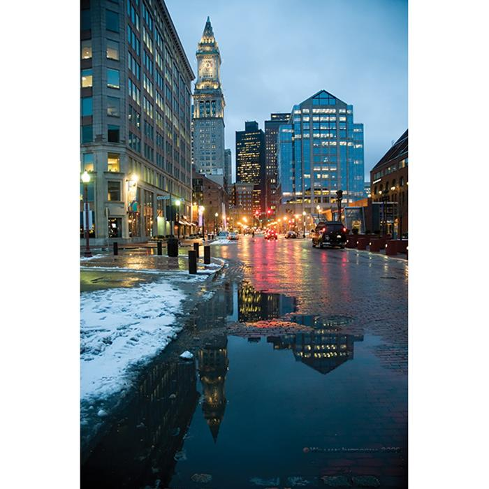 Photo Greeting Card Of Buildings In Boston, Massachusetts