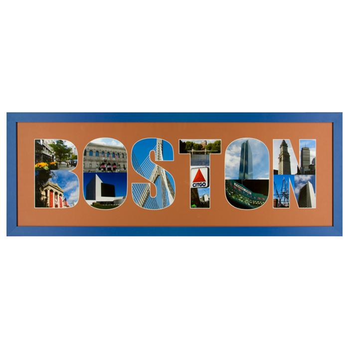 framed City of boston photo collage by Kurt Neumann | Frame It Waban Gallery