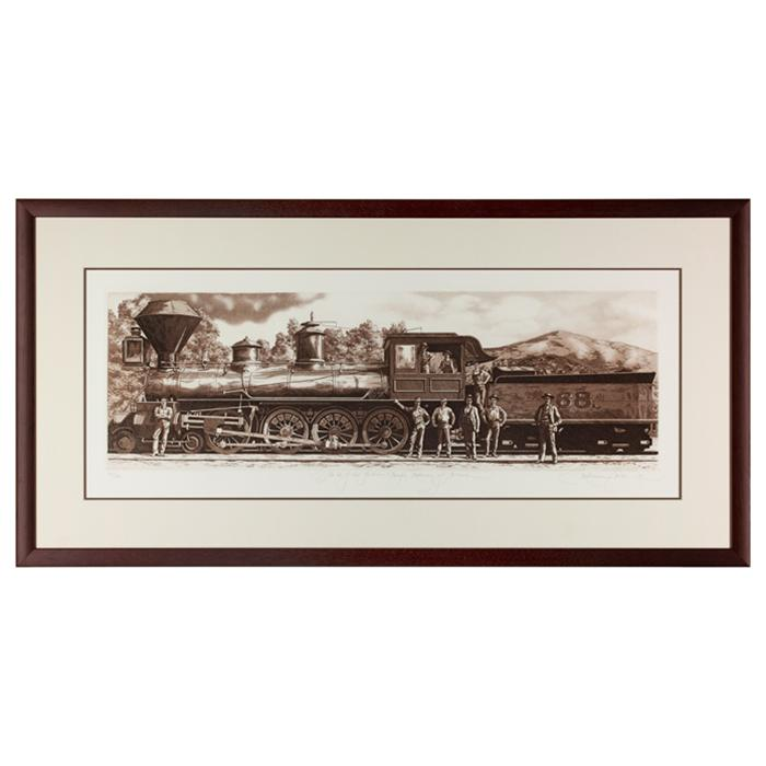 "Framed artwork ""#68 of the Southern Pacific Railway of Arizona""  by Kathleen Cantin"
