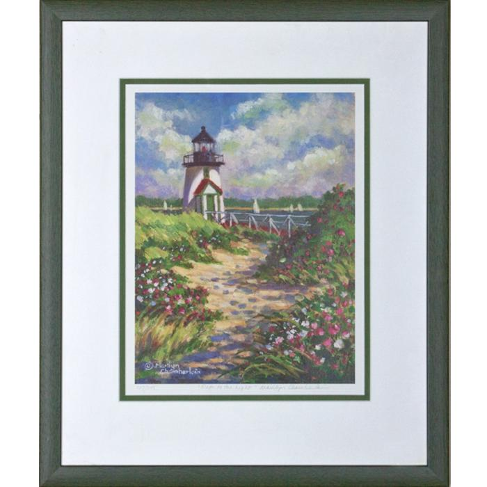 "framed artwork ""Path to the Light by Marilyn Chamberlain"