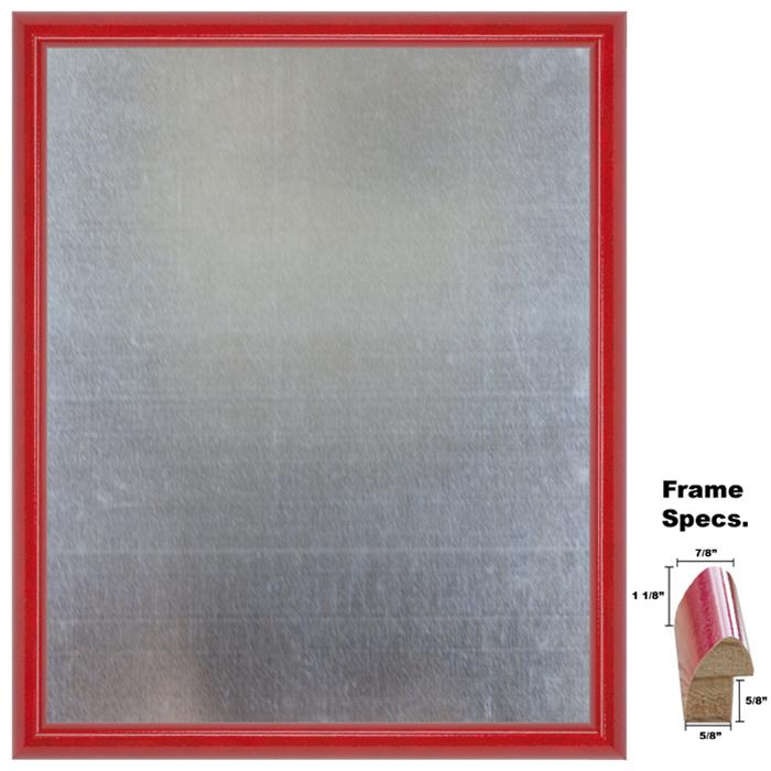 Framed Galvanized Steel Magnet Board In A Glossy Cherry Color Frame