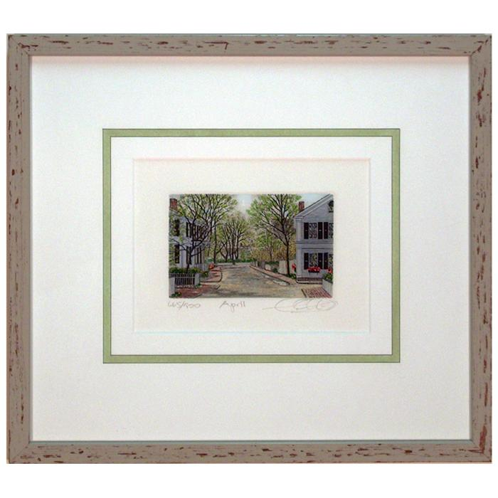 "Framed artwork""April"" by Caroll Collette"