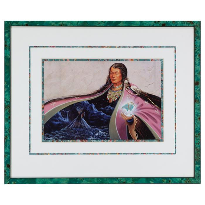 "framed artwork ""Indian Dreams"" Series by Charles Frizzell"