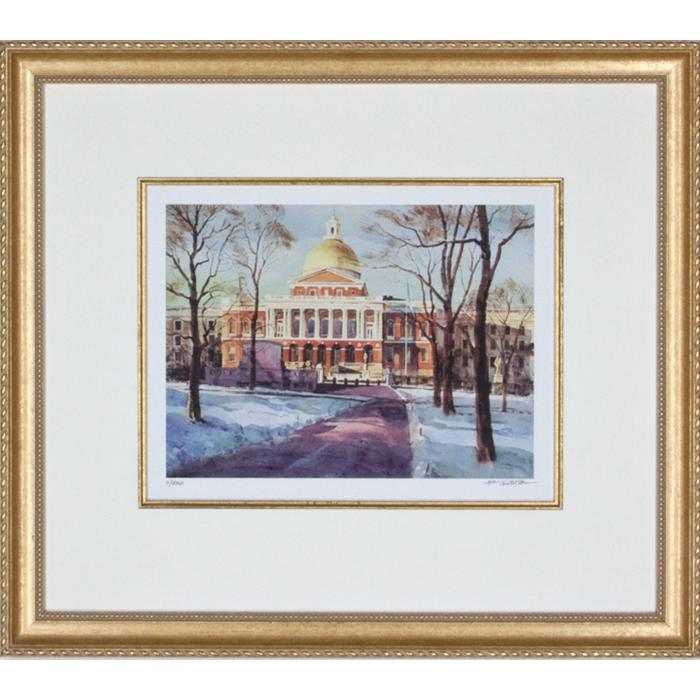 framed artwork State House by Frederick Kubitz