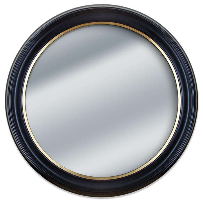 Round Black and Gold Framed Wall Mirror | Frame It Waban Gallery