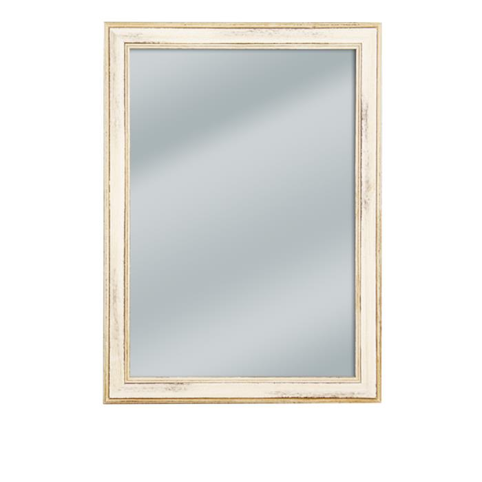 Distressed Off White Framed Mirror 13 14 X 18 14 Frame It Waban