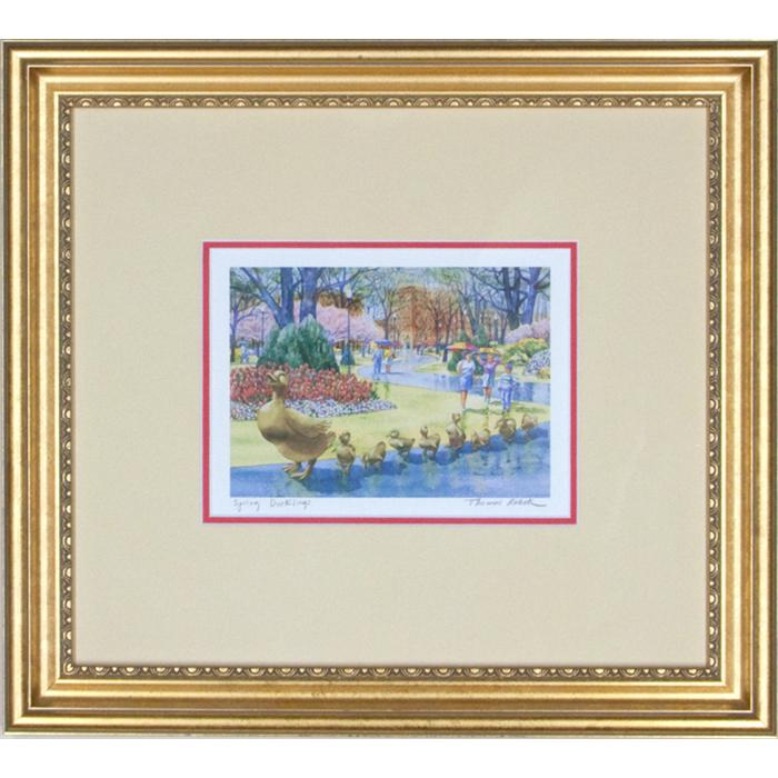 framed artwork Spring Ducklings by Thomas Rebek