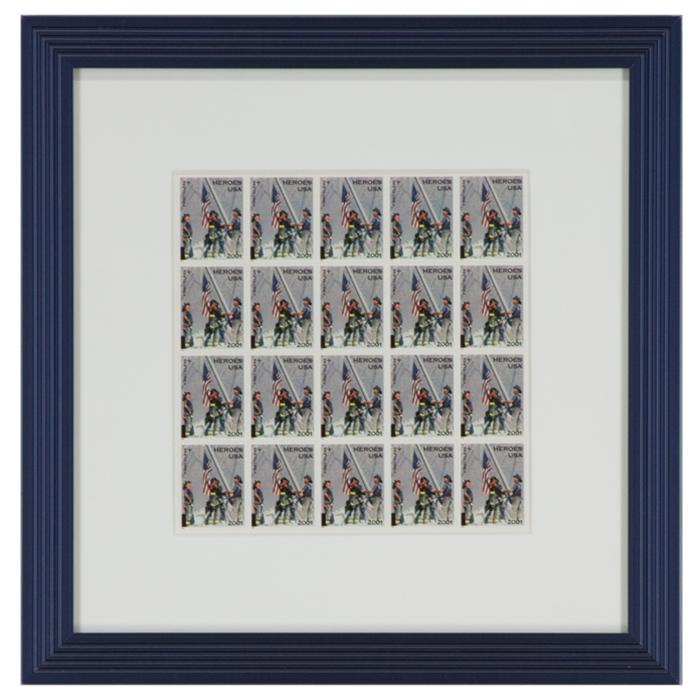 "framed ""Heros"" original stamps"