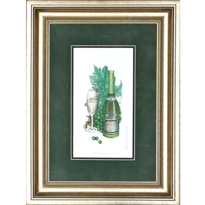 framed Artwork champagne by barbie tidwell